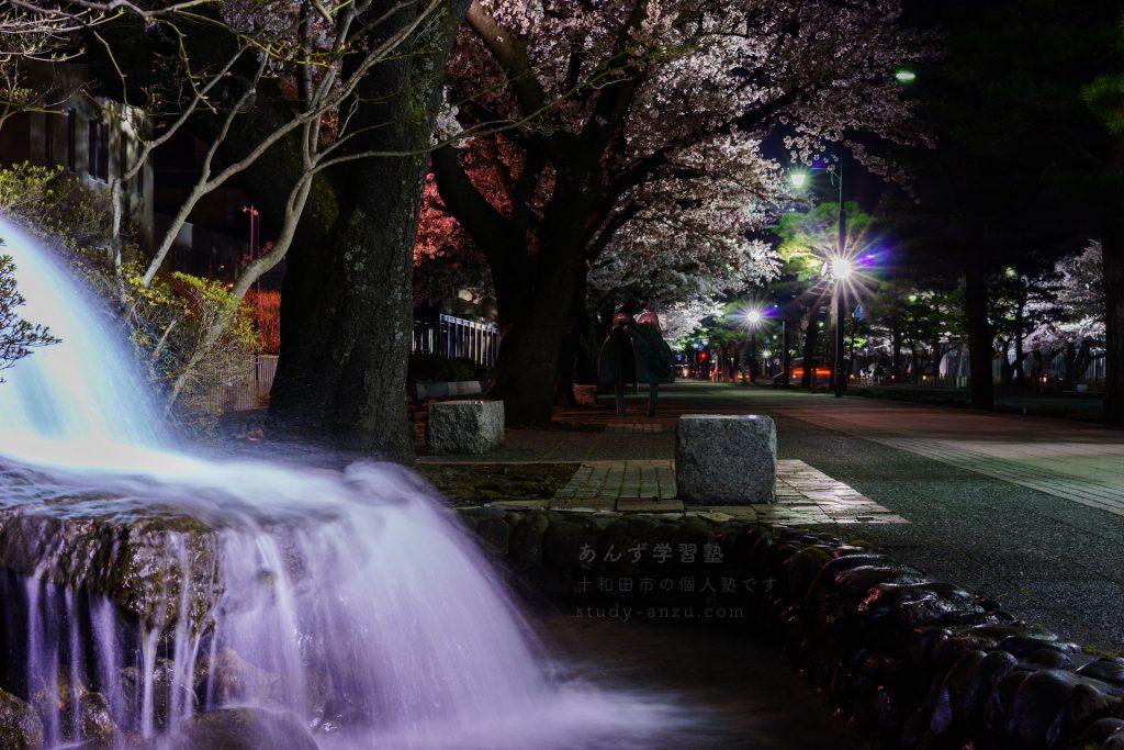 中央病院近くの滝